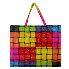 Pinterest Water Colorfull Zipper Large Tote Bag