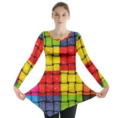 Pinterest Water Colorfull Long Sleeve Tunic