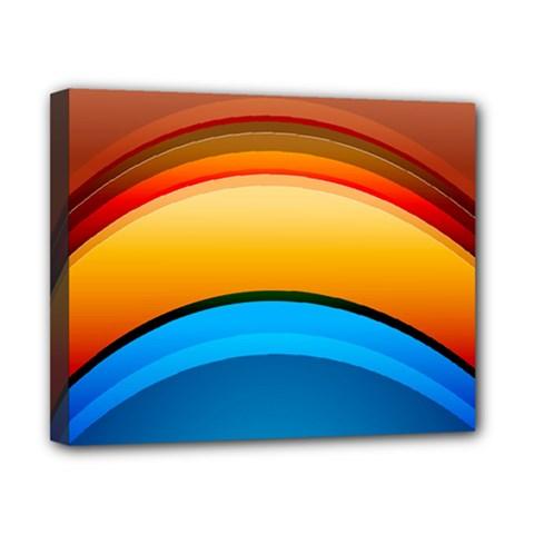 Rainbow Color Canvas 10  x 8