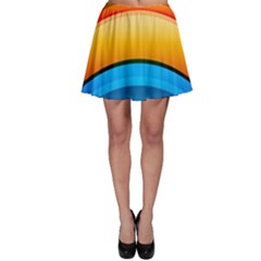 Rainbow Color Skater Skirt