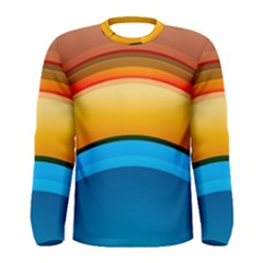 Rainbow Color Men s Long Sleeve Tee