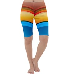 Rainbow Color Cropped Leggings