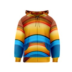 Rainbow Color Kids  Zipper Hoodie