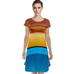 Rainbow Color Cap Sleeve Nightdress