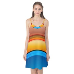 Rainbow Color Camis Nightgown