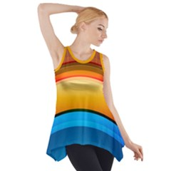 Rainbow Color Side Drop Tank Tunic
