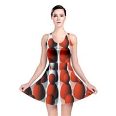 Red White Reversible Skater Dress