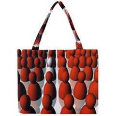 Red White Mini Tote Bag