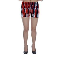 Red White Skinny Shorts