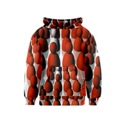 Red White Kids  Pullover Hoodie