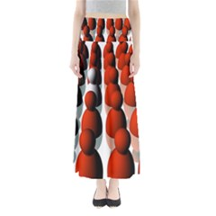 Red White Maxi Skirts