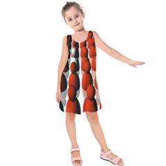 Red White Kids  Sleeveless Dress
