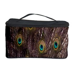 Purple Peacock Feather Wallpaper Cosmetic Storage Case