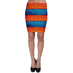 Red Blue Bodycon Skirt