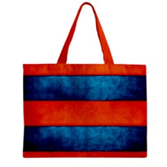 Red Blue Zipper Mini Tote Bag