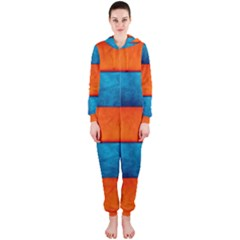 Red Blue Hooded Jumpsuit (Ladies)