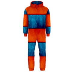 Red Blue Hooded Jumpsuit (Men)