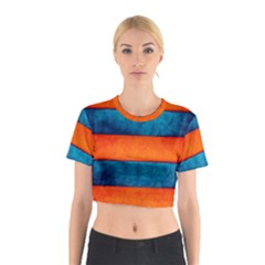 Red Blue Cotton Crop Top