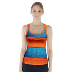 Red Blue Racer Back Sports Top