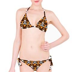 Sitbeagle Dog Orange Bikini Set