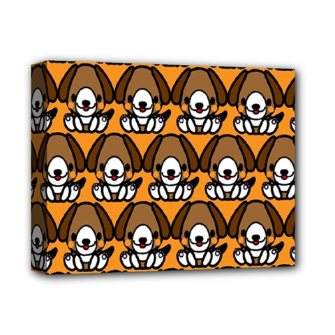 Sitbeagle Dog Orange Deluxe Canvas 14  x 11