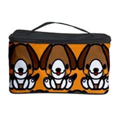 Sitbeagle Dog Orange Cosmetic Storage Case