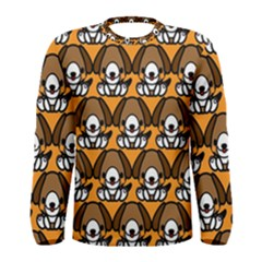 Sitbeagle Dog Orange Men s Long Sleeve Tee