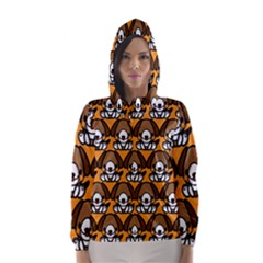 Sitbeagle Dog Orange Hooded Wind Breaker (Women)