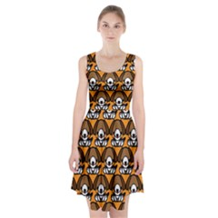 Sitbeagle Dog Orange Racerback Midi Dress