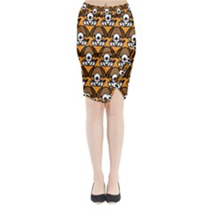 Sitbeagle Dog Orange Midi Wrap Pencil Skirt