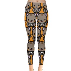 Sitcat Orange Brown Leggings