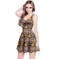 Sitcat Orange Brown Reversible Sleeveless Dress