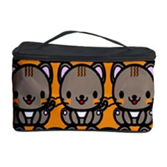 Sitcat Orange Brown Cosmetic Storage Case