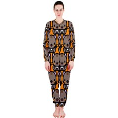Sitcat Orange Brown OnePiece Jumpsuit (Ladies)