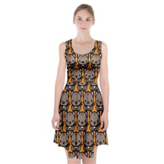Sitcat Orange Brown Racerback Midi Dress