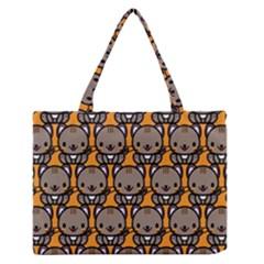 Sitcat Orange Brown Medium Zipper Tote Bag