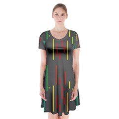 Related Pictures Funny Short Sleeve V-neck Flare Dress