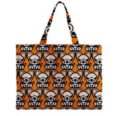 Sitchihuahua Cute Face Dog Chihuahua Zipper Mini Tote Bag