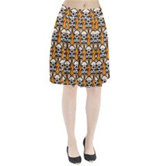 Sitchihuahua Cute Face Dog Chihuahua Pleated Skirt