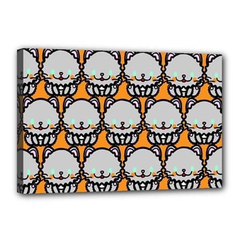 Sitpersian Cat Orange Canvas 18  x 12