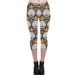 Sitpersian Cat Orange Capri Leggings
