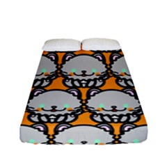 Sitpersian Cat Orange Fitted Sheet (full/ Double Size)