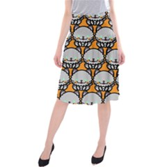 Sitpersian Cat Orange Midi Beach Skirt