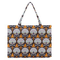 Sitpersian Cat Orange Medium Zipper Tote Bag