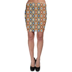 Round Color Bodycon Skirt