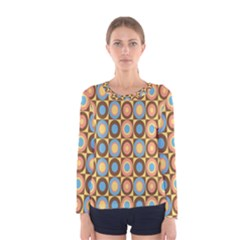 Round Color Women s Long Sleeve Tee