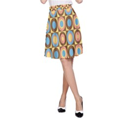 Round Color A-Line Skirt