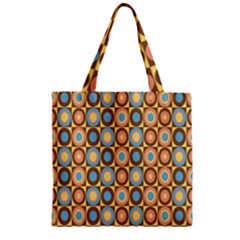 Round Color Zipper Grocery Tote Bag