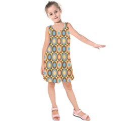 Round Color Kids  Sleeveless Dress