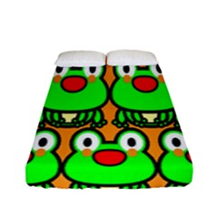 Sitfrog Orange Face Green Frog Copy Fitted Sheet (full/ Double Size)
